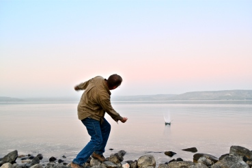 Skipping stones on the Sea of Galilee