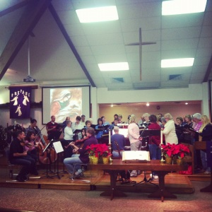 Advent music rehearsal at fpcBrandon