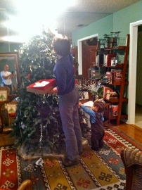 """Leave it to me, Grandma, I'll take the whole tree down!"""