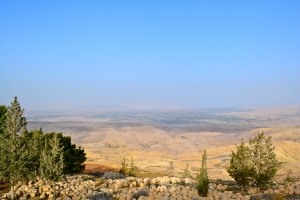 On Nebo, looking toward Jericho and the Promised Land