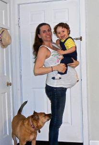 Naomi (37 weeks) with David
