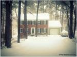 Maul Hall looking wintery