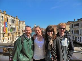 Craig, Naomi, Alicia, Andrew (in Venice)