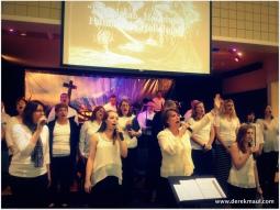 the choir led powerful worship