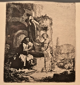 Woman at the Well - Rembrandt