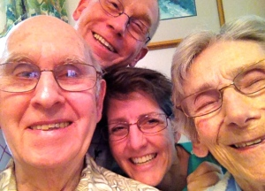 "Dad's 86th birthday ""selfie"""