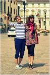 Rebekah and Alicia enjoying Vicenza