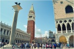 in front of Doge Palace (right) looking back to St Mark's Square