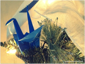 12. The peace crane landed on my tree