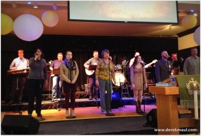 Praise Band leading at 9:00