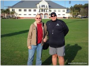 with coach Ernie Yarborough