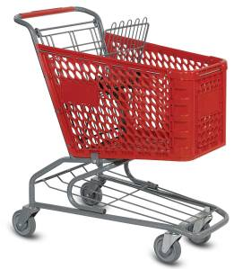 V Series Plastic Shopping Cart 72L 45 degree  view_large