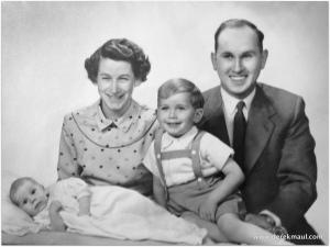 Derek, Grace, Geoff, and David, 1956