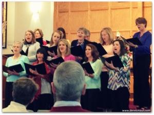 Women's chorus, yesterday at WFPC