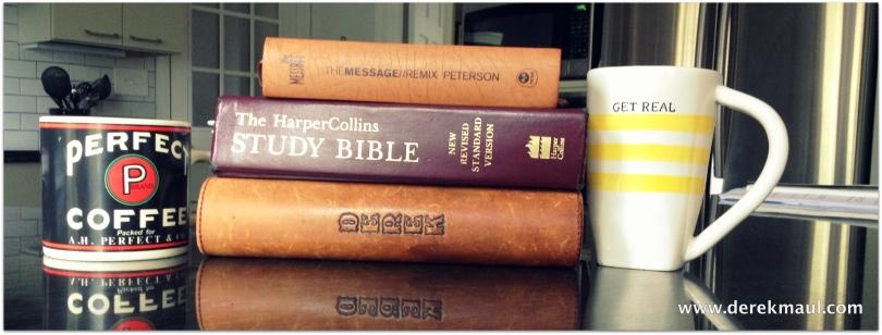 Drinking coffee, enjoying God's word...