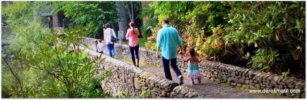 the family, walking alongside Lake Susan