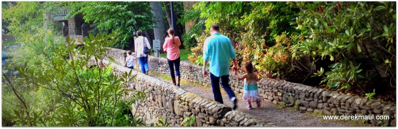 the family, walking alongside Lake Susan