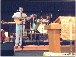 John Fawcett singing in thankgiving