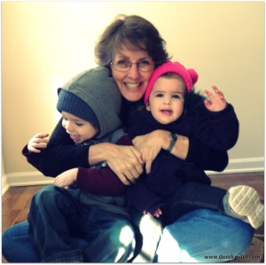 Rebekah with the grandkids