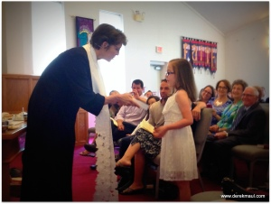 placing God's word in the hands of a child!
