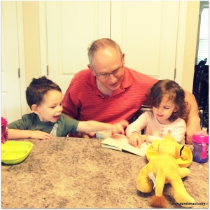 reading with Grandaddy
