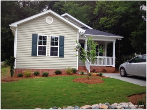 new Habitat house in Wake Forest