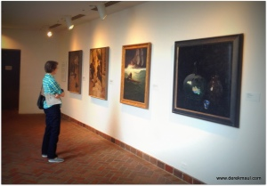 Rebekah viewing NC Wyeth's illustrations