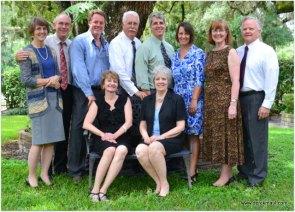 """the ten"" - at Myrt's memorial service. Alexander sibs plus spouses"