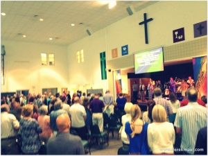 9:00 worship in the CLC