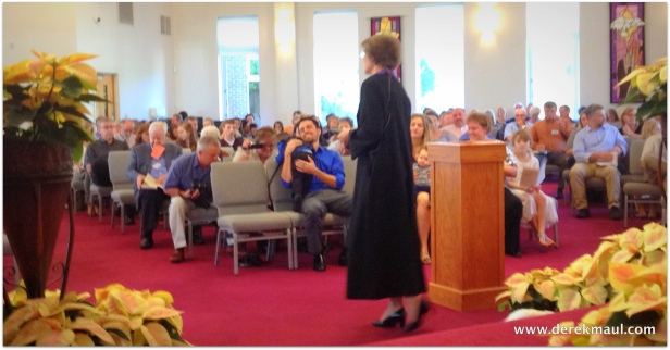 talking with the congregation