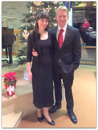 Alicia and Andrew in Midland, Christmas Eve