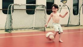 David honing his soccer skills (Naomi photo)