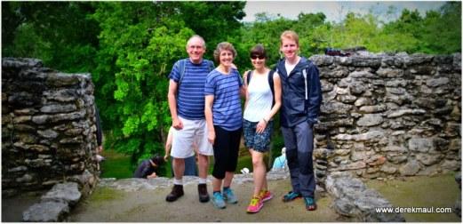Derek, Rebekah, Alicia, Andrew at the Mayan ruins...