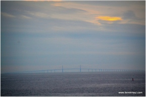 approaching the Sunshine Skyway