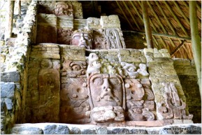 carved faces