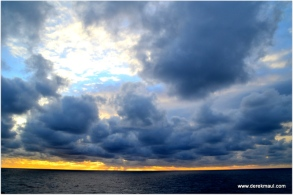 beautiful sky on the Gulf of Mexico