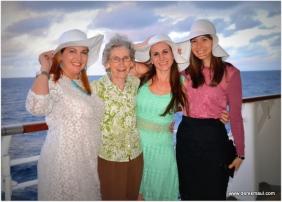 Grandma with her hat granddaughters