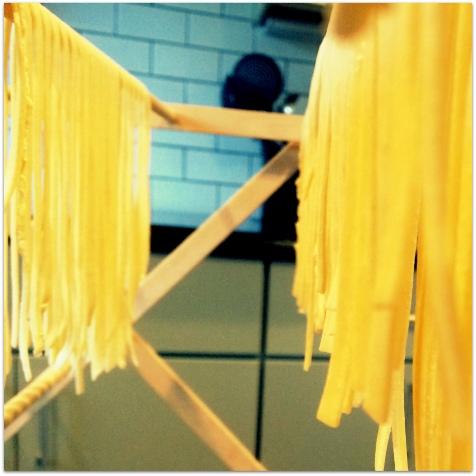 dry the pasta