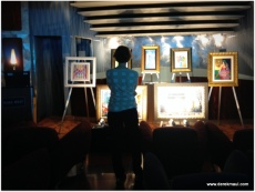 Rebekah enjoying the art