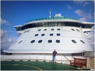 me at the pointy end of the boat