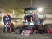 Andrew and Alicia re-packing for Uzbekistan!