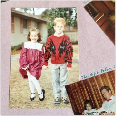 Christmas Eve 1987 - Naomi and Andrew
