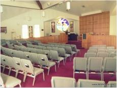 the sanctuary (Note the preacher!)