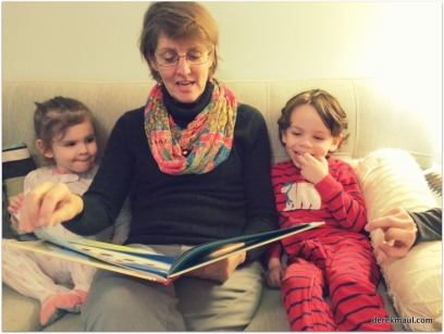 """reading """"Tickle-Monster"""" with grandmama"""