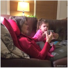 Beks doing Facetime with her mommie