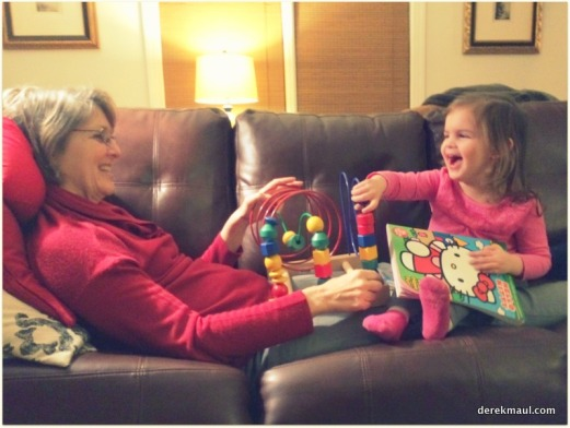 playing with Grandmama