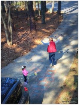 chalk fun with grandmama
