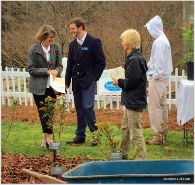 Rebekah and John with Carolyn and John Wiles