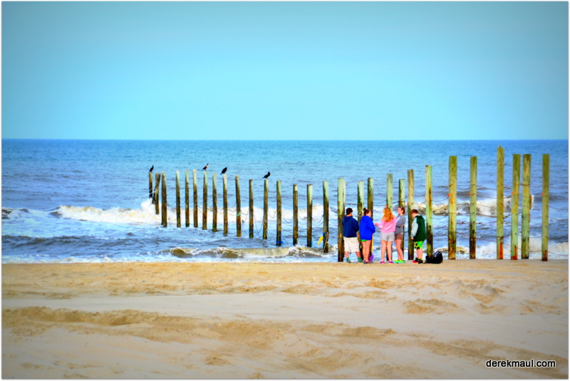 the edge of Corolla Beach