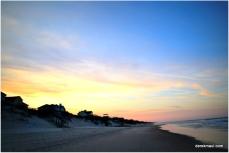 Corolla Beach at sundown